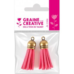 SET OF 2 TASSELS BRONZE- PINK 4CM