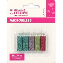 SET OF5 BOTTLE OF MICROBEADS : BRIGHT  5X20G