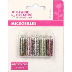 SET OF5 BOTTLE OF MICROBEADS :MULTICOLOUR  5X20G