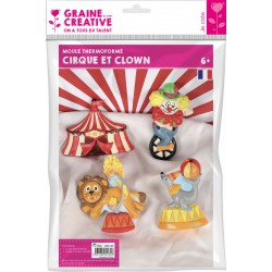 THERMO CIRCUS MOLD AND CLOWNS