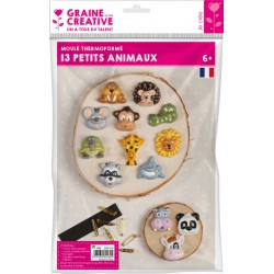 13 SMALL ANIMALS THERMOFORMED MOULD + ACCESSORIES
