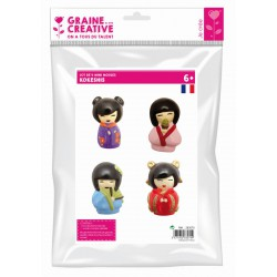PACK OF 4 MINI KOKESHI MOULDS