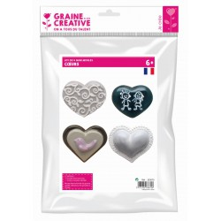 PACK OF 4 MINI HEART MOULDS