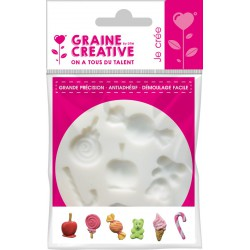 Mini silicone mould ø 70mm - Candy