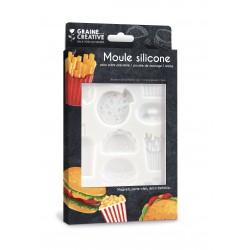 Silicone mold 13cm x 20cm - Junk food