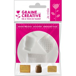MINI SILICONE MOULD - CHILDHOOD BISCUITS Ø70MM