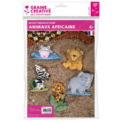 AFRICAN ANIMALS THERMOFORMED MOULD