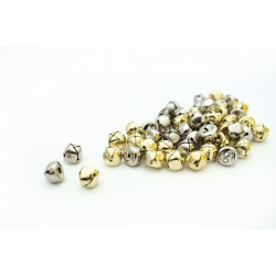 Bells 13mm - Gold and silver (50 pcs)