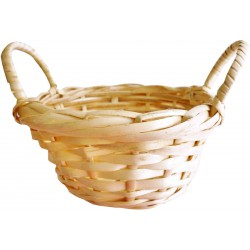 Mini round basket with handles 100mm x 40mm