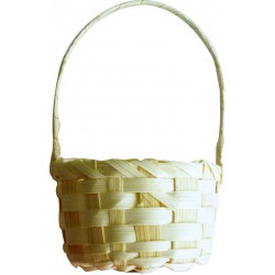 Bamboo round basket 75mm x 130mm