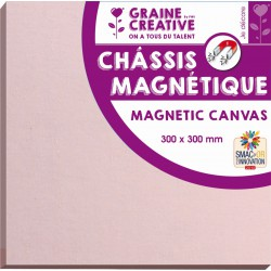 PINK MAGNET PAINTING BOARD W/CANVAS 300x300x25mm