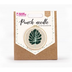 Punch Needle kit Ø 200 mm - Leaf