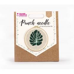 Punch Needle kit Ø 200 mm - Leaf