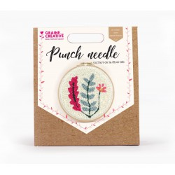 Punch Needle kit Ø 200 mm - Vegetal