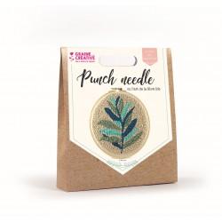 Punch Needle kit Ø 200 mm - Leafs
