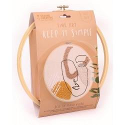 Kit punch needle - Line art ø18cm