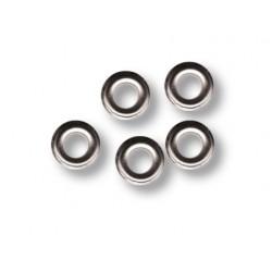Metal eyelets Ø 7mm - Silver (100 pcs)