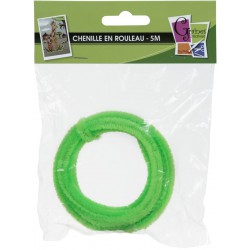 CHENILLE 1x5M /8mm LIGHT GREEN