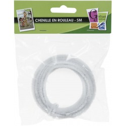 CHENILLE 1x5M /8mm WHITE