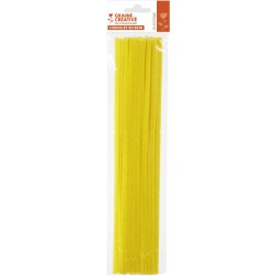 20 CHENILLLES 6mm/YELLOW