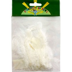 20 ROOSTER FEATHERS 7CM WHITE