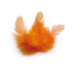 Chicken feathers 3g 100mm - Orange