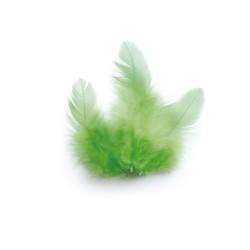 Chicken feathers 3g 100mm - Light green
