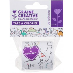 DINOSAURS COLORING TAPE 46mmx5m