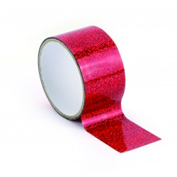 Queen tape 48mm x 8m - Holographic red