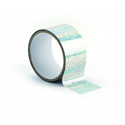 Queen tape 48mm x 8m - Holographic silver