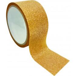 Queen tape 48mm x 6m - Glitter gold
