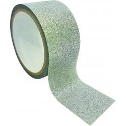 Queen tape 48mm x 6m - Glitter silver