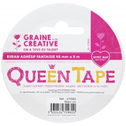 QUEEN TAPE WHITE 48mm x8m