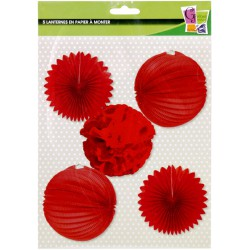 RED PARTY KIT 5 pces