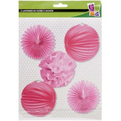 PINK PARTY KIT 5 pces