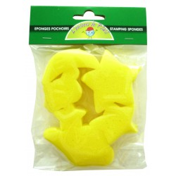 6 FOAM SPONGES STAR, MOON 50x50mm