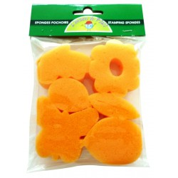 6 FOAM SPONGES SPRING 50x50mm