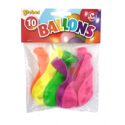 SACH. 10 BALLOONS NEON ASS.