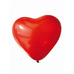 Balloons 30cm - Red heart (10 pcs)