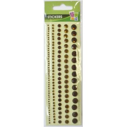 5 ADHESIVE STRASS STRIPS BROWN 8mm
