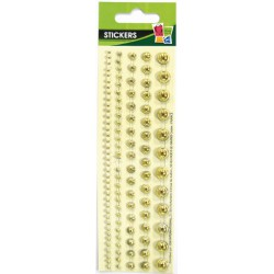 5 ADHESIVE PEARLS STRIPS GOLD 145x8mm
