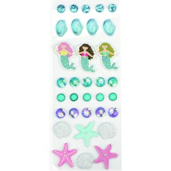 Stickers 3D effect 30mm - Sea (33 pcs