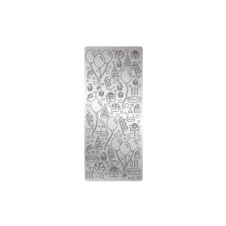 Peel off's stickers 105mm x 232mm - Party silver