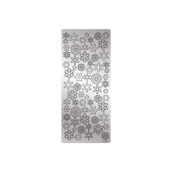Peel off's stickers 105mm x 232mm - Snowflakes silver