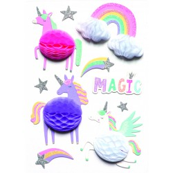 Stickers 3D effect 60mm - Unicorn (10 pcs)