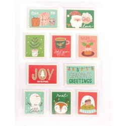 3D stickers glitter - Christmas stamps