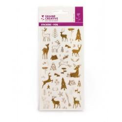 Stickers gold metallic - Reindeer