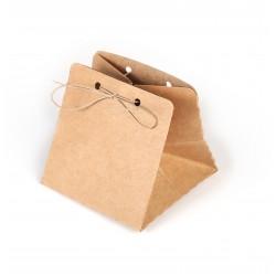 Gift boxes purse 70mm x 100mm - Kraft (8 pcs)