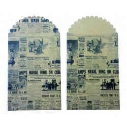 Kraft bags 235mm x 130mm - Newspaper (6 pcs)