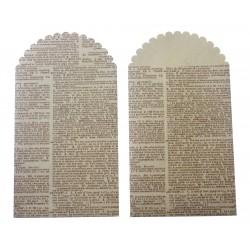 Kraft bags 235mm x 130mm - Dictionary (6 pcs)